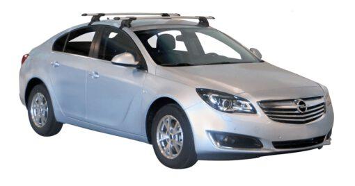 Whispbar Dakdragers Zilver Opel Insignia 5dr Hatch met Glad dak bouwjaar 2009-2017 Complete set dakdragers