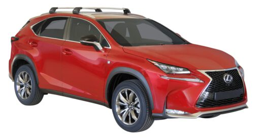 Whispbar Dakdragers (Zilver) Lexus NX 5dr SUV met Geintegreerde rails bouwjaar 2015 - e.v. Complete set dakdragers