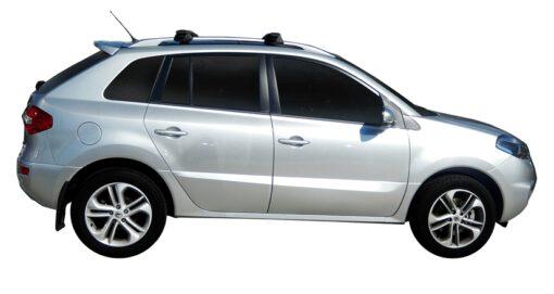 Whispbar Dakdragers Zilver Renault Koleos 5dr SUV met Dakrails bouwjaar 2008-2010 Complete set dakdragers