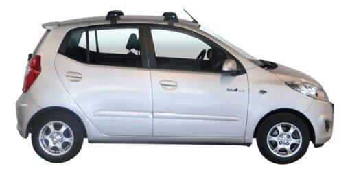 Whispbar Dakdragers Zilver Hyundai i10 5dr Hatch met Glad dak bouwjaar 2008-2013 Complete set dakdragers