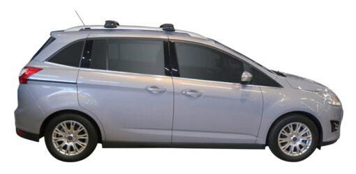 Whispbar Dakdragers Zilver Ford Grand C-Max 5dr MPV met Dakrails bouwjaar 2010-e.v. Complete set dakdragers