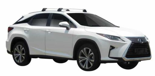Whispbar Dakdragers (Zilver) Lexus RX Steel Roof 5dr SUV met Geintegreerde rails bouwjaar 2016 - e.v. Complete set dakdragers