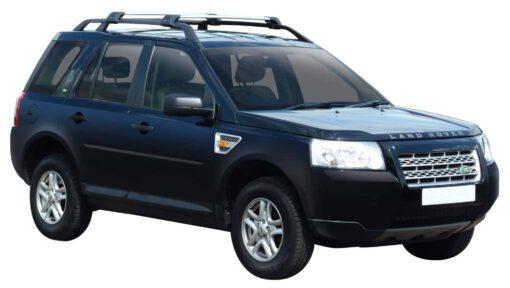 Whispbar Dakdragers Zilver Land Rover Freelander 2 5dr SUV met Dakrails bouwjaar 2007-2012 Complete set dakdragers