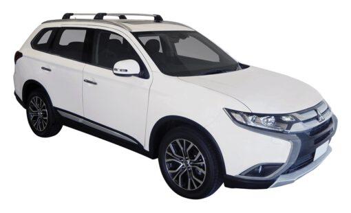 Whispbar Dakdragers (Zilver) Mitsubishi Outlander 5dr SUV met Geintegreerde rails bouwjaar 2015 - e.v.|Complete set dakdragers