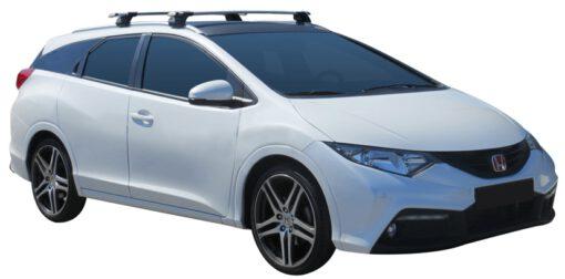 Whispbar Dakdragers (Zilver) Honda Civic Tourer 5dr Estate met Geintegreerde rails bouwjaar 2014 - e.v. Complete set dakdragers