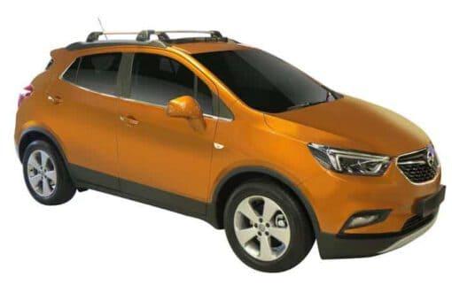 Whispbar Dakdragers (Zilver) Opel Mokka X 5dr SUV met Geintegreerde rails bouwjaar 2016 - e.v. Complete set dakdragers