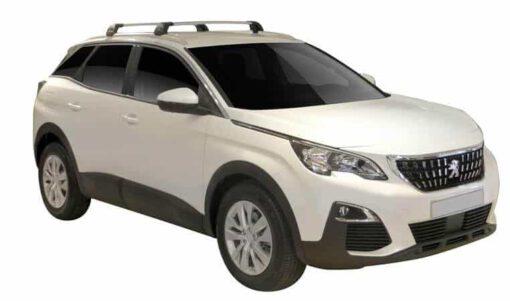 Whispbar Dakdragers (Zilver) Peugeot 3008 5dr SUV met Geintegreerde rails bouwjaar 2016 - e.v.|Complete set dakdragers