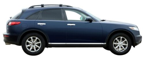 Whispbar Dakdragers Zilver Infiniti FX  5dr SUV met Dakrails bouwjaar 2003-2008 Complete set dakdragers