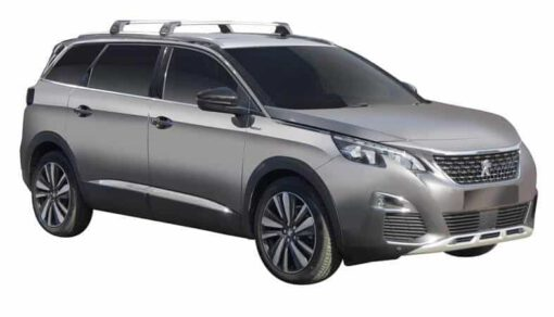 Whispbar Dakdragers (Zilver) Peugeot 5008 5dr SUV met Geintegreerde rails bouwjaar 2017 - e.v. Complete set dakdragers