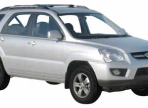 Whispbar Dakdragers Zwart Kia Sportage 5dr SUV met Dakrails bouwjaar 2005-2010 Complete set dakdragers