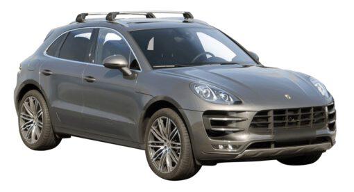Whispbar Dakdragers (Black) Porsche Macan 5dr SUV met Geintegreerde rails bouwjaar 2014 - e.v.|Complete set dakdragers