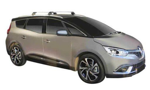 Whispbar Dakdragers (Black) (Zilver) Renault Grand Scenic 5dr MPV met Geintegreerde rails bouwjaar 2016 - e.v. Complete set dakdragers