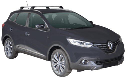 Whispbar Dakdragers (Zilver) Renault Kadjar 5dr SUV met Geintegreerde rails bouwjaar 2015 - e.v.|Complete set dakdragers