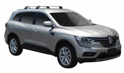 Whispbar Dakdragers (Zilver) Renault Koleos 5dr SUV met Geintegreerde rails bouwjaar 2016 - e.v.|Complete set dakdragers