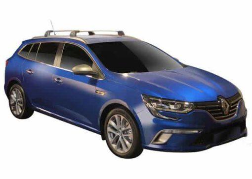 Whispbar Dakdragers (Zilver) Renault Megane 5dr Estate met Geintegreerde rails bouwjaar 2016 - e.v.|Complete set dakdragers