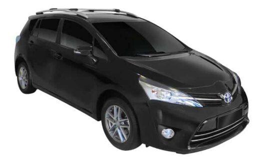 Whispbar Dakdragers Zwart Toyota Verso 5dr MPV met Dakrails bouwjaar 2009-e.v. Complete set dakdragers