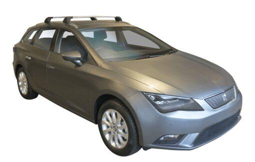 Whispbar Dakdragers (Zilver) Seat Leon ST 5dr Estate met Geintegreerde rails bouwjaar 2014 - 2016|Complete set dakdragers