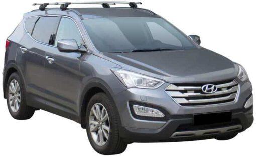 Whispbar Dakdragers (Zilver) Hyundai Santa Fe 5dr SUV met Geintegreerde rails bouwjaar 2012 - e.v.|Complete set dakdragers