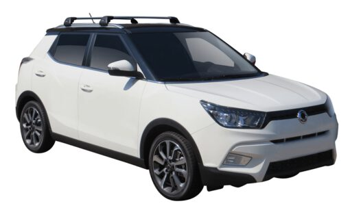 Whispbar Dakdragers (Zilver) SsangYong Tivoli 5dr SUV met Geintegreerde rails bouwjaar 2015 - e.v.|Complete set dakdragers