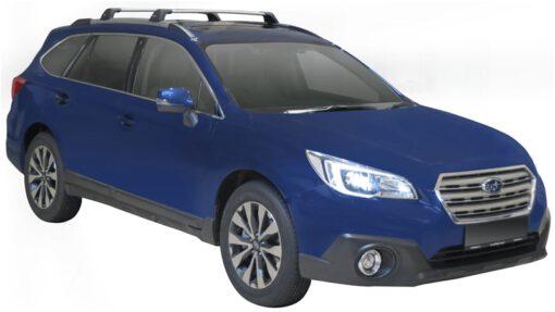 Whispbar Dakdragers (Zilver) Subaru Outback 5dr Estate met Geintegreerde rails bouwjaar 2015 - e.v.|Complete set dakdragers