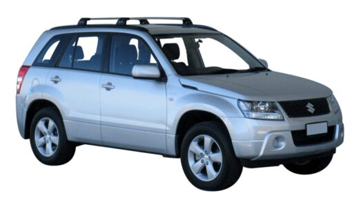 Whispbar Dakdragers (Zilver) Suzuki Grand Vitara 5dr SUV met Geintegreerde rails bouwjaar 2013 - e.v. Complete set dakdragers