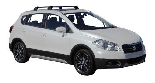 Whispbar Dakdragers (Zilver) Suzuki SX4 S-Cross 5dr SUV met Geintegreerde rails bouwjaar 2014 - 2016|Complete set dakdragers