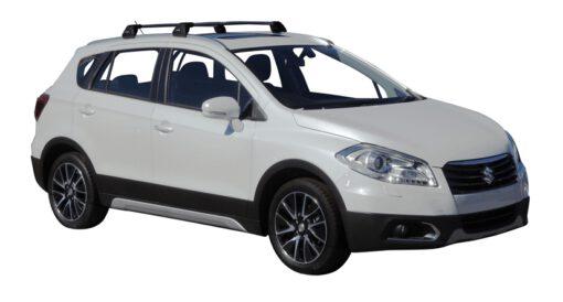 Whispbar Dakdragers (Black) Suzuki SX4 S-Cross 5dr SUV met Geintegreerde rails bouwjaar 2014 - 2016 Complete set dakdragers