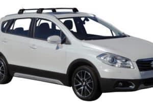 Whispbar Dakdragers (Black) Suzuki SX4 S-Cross 5dr SUV met Geintegreerde rails bouwjaar 2016 - e.v.|Complete set dakdragers