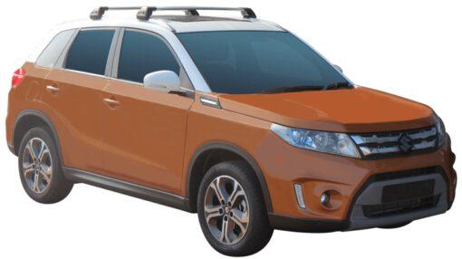 Whispbar Dakdragers (Zilver) Suzuki Vitara 5dr SUV met Geintegreerde rails bouwjaar 2015 - e.v. Complete set dakdragers
