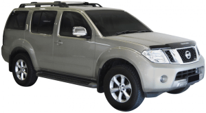 Whispbar Dakdragers Zwart Nissan Pathfinder R51 5dr SUV met Dakrails bouwjaar 2005-2012 Complete set dakdragers