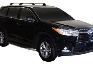 Whispbar Dakdragers (Zilver) Toyota Highlander 5dr SUV met Geintegreerde rails bouwjaar 2014 - 2017|Complete set dakdragers
