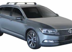Whispbar Dakdragers (Zilver) Volkswagen Passat Variant 5dr Estate met Geintegreerde rails bouwjaar 2014 - e.v.|Complete set dakdragers