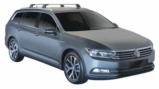 Whispbar Dakdragers (Zilver) Volkswagen Passat Variant 5dr Estate met Geintegreerde rails bouwjaar 2014 - e.v. Complete set dakdragers
