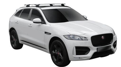 Whispbar Dakdragers (Zilver) Jaguar F-Pace 5dr SUV met Geintegreerde rails bouwjaar 2016 - e.v.|Complete set dakdragers