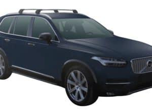 Whispbar Dakdragers (Zilver) Volvo XC90 5dr SUV met Geintegreerde rails bouwjaar 2015 - e.v.|Complete set dakdragers