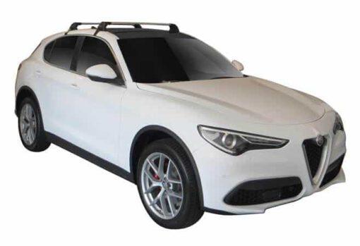 Whispbar Dakdragers (Black) Alfa Romeo Stelvio 5dr SUV met Glad dak bouwjaar 2017 - e.v. Complete set dakdragers