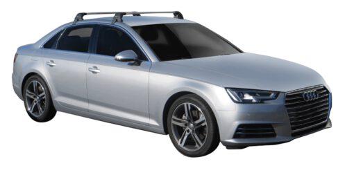 Whispbar Dakdragers (Black) Audi A4/S4/RS4 Limousine 4dr Sedan met Glad dak bouwjaar 2015 - e.v. Complete set dakdragers
