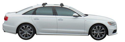 Whispbar Dakdragers (Black) Audi A6/S6/RS6 Limousine 4dr Sedan met Glad dak bouwjaar 2011 - e.v.|Complete set dakdragers