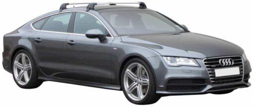 Whispbar Dakdragers (Black) Audi A7/S7/RS7 Sportback 5dr Hatch met Glad dak bouwjaar 2011 - e.v.|Complete set dakdragers