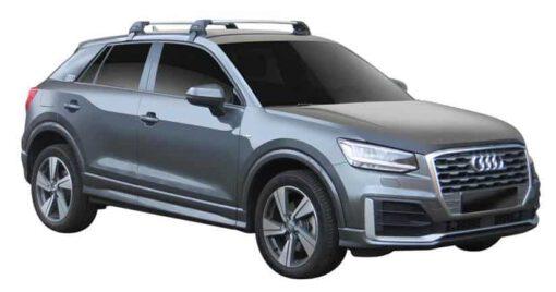 Whispbar Dakdragers (Black) Audi Q2 5dr SUV met Glad dak bouwjaar 2016 - e.v. Complete set dakdragers