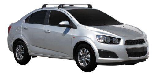 Whispbar Dakdragers (Black) Chevrolet Aveo 4dr Sedan met Glad dak bouwjaar 2011 - e.v.|Complete set dakdragers