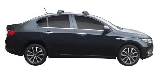 Whispbar Dakdragers (Black) Fiat Tipo 4dr Sedan met Glad dak bouwjaar 2016 - e.v.|Complete set dakdragers