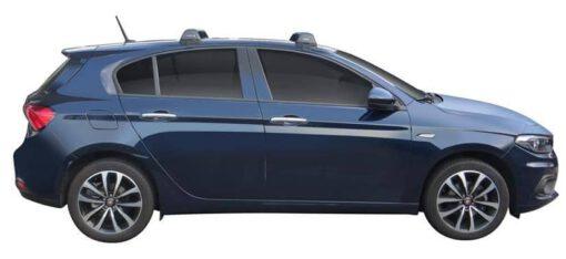 Whispbar Dakdragers (Black) Fiat Tipo 5dr Hatch met Glad dak bouwjaar 2016 - e.v.|Complete set dakdragers
