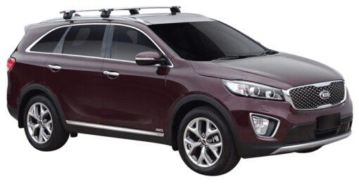 Whispbar Dakdragers (Zilver) Kia Sorento 5dr SUV met Geintegreerde rails bouwjaar 2015 - e.v.|Complete set dakdragers