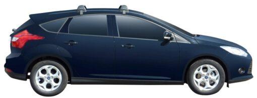 Whispbar Dakdragers (Black) Ford Focus Existing Hole Under Door Frame 5dr Hatch met Glad dak bouwjaar 2011 - e.v.|Complete set dakdragers