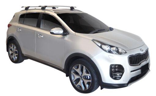Whispbar Dakdragers (Zilver) Kia Sportage Glass Roof 5dr SUV met Geintegreerde rails bouwjaar 2016 - e.v.|Complete set dakdragers