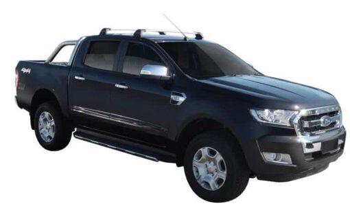 Whispbar Dakdragers (Black) Ford Ranger Double Cab 4dr Ute met Glad dak bouwjaar 2015 - e.v. Complete set dakdragers