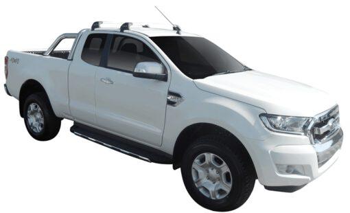 Whispbar Dakdragers (Black) Ford Ranger Super Cab 4dr Ute met Glad dak bouwjaar 2015 - e.v.|Complete set dakdragers