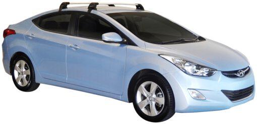 Whispbar Dakdragers (Black) Hyundai Elantra 4dr Sedan met Glad dak bouwjaar 2011 - 2015|Complete set dakdragers