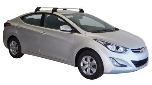 Whispbar Dakdragers (Black) Hyundai Elantra 4dr Sedan met Glad dak bouwjaar 2015 - 2016 Complete set dakdragers